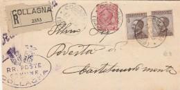 RACCOMANDATA 1929 CON 2X40 +10 CENT. TIMBRO COLLAGNA (Z1208 - 1900-44 Vittorio Emanuele III