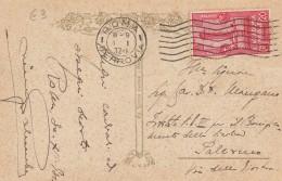 CARTOLINA ROMA RUPE TARPEA 1932 CENT.20 ACCADEMIA NAVALE (Z1217 - 1900-44 Vittorio Emanuele III