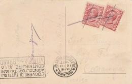 CARTOLINA 1927 CON 2X10 CENT -TIMBRO E' DOVERE DI TUTTI GLI AGRICOLTORI (Z1260 - 1900-44 Victor Emmanuel III.