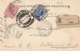 RACCOMANDATA 1917 CON 10+25 CENT. TIMBRO REGGIO EMILIA CASTELNOVO NE MONTI  (Z1278 - 1900-44 Vittorio Emanuele III