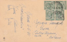 CARTOLINA 1925 CON 4X5 CENT -ROMA PALAZZO DI GIUSTIZIA (Z1282 - 1900-44 Vittorio Emanuele III