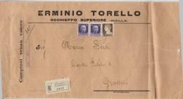 RACCOMANDATA CAMPIONI SENZA VALORE ANNI 30 CON 2X50+10 CENT. (Z1397 - 1900-44 Vittorio Emanuele III