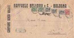 RACCOMANDATA ANNI 30 CAMPIONE SENZA VALORE CON 2X5+3X30+10 CENT.  (Z1400 - 1900-44 Vittorio Emanuele III
