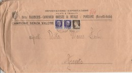 LETTERA ANNI 30 CAMPIONE SENZA VALORE CENT.2X50+10 (Z1401 - 1900-44 Vittorio Emanuele III