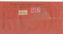 RACCOMANDATA 1937 CAMPIONI SENZA VALORE CON 75+20 CENT  (Z1402 - 1900-44 Vittorio Emanuele III