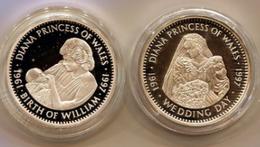 Diana Princess  2 Fois 20 DOLLARS ARGENT Republic Of Liberia / 20 DOLLARS ARGENT Republic Of Liberia - Liberia
