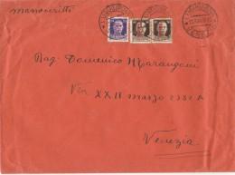 MANOSCRITTI 1944 REPUBBLICA SOCIALE CON 50+2X30CENT SOVRASTAMPA FORTEMENTE SPOSTATA A SX-TIMBRO LUGUGNANA (Z1408 - 4. 1944-45 Repubblica Sociale