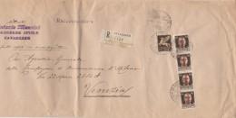 RACCOMANDATA 1944 REPUBBLICA SOCIALE CON 4X30 CENT+POSTA AEREA 50 CENT. TIMBRO CAVARZERE (Z1411 - 4. 1944-45 Repubblica Sociale