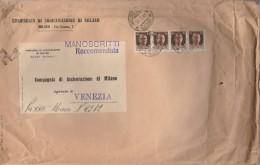 RACCOMANDATA 1944 REPUBBLICA SOCIALE CON 4X30 CENT+TIMBRO INDUNO VARESE (Z1414 - 4. 1944-45 Repubblica Sociale