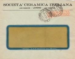 LETTERA 1944 VIAGGIATA CON CENT.50 PACCHI POSTALI TIMBRO LAVENO MOMBELLO (Z1420 - Storia Postale