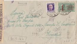 ESPRESSO REPUBBLICA SOCIALE 1944 CON 50CENT +1,25 ESPRESSO SS-TIMBRO BOLOGNA-STRAPPI SUL RETRO (Z1446 - 4. 1944-45 Repubblica Sociale