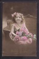 CPA Enfant Jolie Fillette Souriante - Pretty Girl - Photo - Portraits
