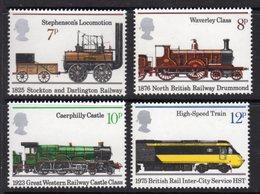 GREAT BRITAIN GB - 1975 PUBLIC RAILWAYS SET (4V) FINE MNH ** SG 984-987 - Unused Stamps