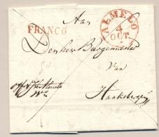 Nederland - 1835 - Complete Vouwbrief FRANCO Van ALMELO Naar Haaksbergen - PEP 7010-11-070 - Netherlands