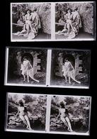 ENORME LOT DE NUS PLAQUES PHOTOS ORIGINALES / DIAPOS / CREDIT POSSIBLE - Plaques De Verre