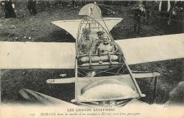 LES GRANDS AVIATEURS MORANE DANS LA NACELLE D'UN MONOPLAN BLERIOT AVEC  DEUX PASSAGERS - ....-1914: Précurseurs