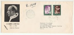 1959 Registered HAITI FDC  POPE PIUS PEACE Stamps Cover To United Nations USA Un Religion - Haiti