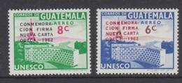 "13.- GUATEMALA 1963 Overloaded ""CONMEMORACION FIRMA NUEVA CARTA ODECA.-1962. "" AIRMAIL - Guatemala"