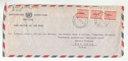 1957 UN In GREECE  To UN NY USA Airmail COVER From United Nations Mission Chrysoupolis Nestou , Stamps - Greece