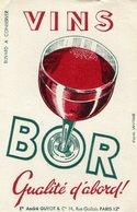 BUVARD(VIN BOR) - Buvards, Protège-cahiers Illustrés