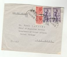 1955 ITALY International Institute For Unification Of Private Law To UN MIGRATION CHIEF USA United Nations  Stamps Cover - Organizations