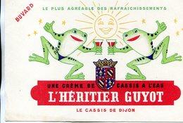 BUVARD(CREME DE CASSIS HERITIER GUYOT) GRENOUILLE - Buvards, Protège-cahiers Illustrés