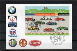 Deutschland, 2009, FDC (individuell) Mit Michel Block 75, Historischer Motorsport - FDC: Brieven