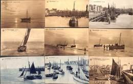 Blankenberge - Lot 12 Cartes (animation, Pêche,  Bateau, Port..) - Blankenberge
