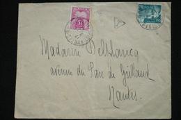 5fr Chiffre Taxe Seul Sur Lettre 2fr Gandon 2/4/47 - 1859-1955 Storia Postale