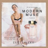CC Carte Parfumée 5x5 'LAUDER MODERN MUSE LE BE AN INSPIRATION' #3102 Perfume Card - Modernes (à Partir De 1961)