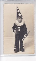 NIÑO BOY GARÇON DISFRAZ COSTUME DISGUISE PAYASO CLOWN CIRCA 1900's-. BLEUP - Fotografie