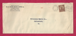 Cover From W. & J. Sloane To Montgomery Ward & Co - 1934 [No Month Or Day] [#3734] - Postal History