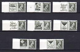 1938-39  Belgique, Publicité, 75c Gris Léopold III Bord Blanc,  PU 99 /  PU 106*, Cote 215 €, - Reclame