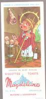 Buvard Légende De Saint Nicolas Magdeleine Biscottes TOASTS GRANVILLE - Zwieback