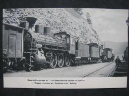 Train Steam Locomotive Circum-Baikal Railway Station F South Side St. Baikal Of The Izd. TD Chachaev - Trains