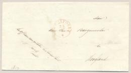 Nederland - 1850 - Omslag Van AMERSFOORT Naar De Burgemeester Van Hoogland - PEP 8030-09 - Nederland