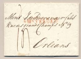 Nederland - 1818 - Complete Vouwbrief Van AMSTERDAM Naar Orleans - PEP 6020-70 - Nederland