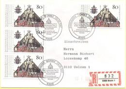GERMANIA - GERMANY - Deutschland - ALLEMAGNE - 1987 - Besuch Papst Johannes Paul II. - FDC - Bonn - Einschreiben - Regis - [7] West-Duitsland