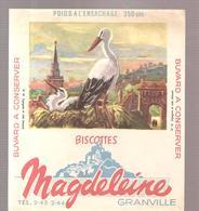 Buvard N°18 Cigogne Et Nids (Alsace) Biscottes GRANVILLE - Zwieback