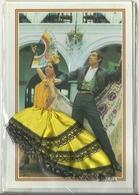 POSTAL EN RELIEVE FLAMENCO ESPAÑA - Baile