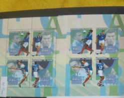 Soccer Football Guinea Guinee KB 2844/7 A+B Imperf 2000 French Players MNH ** - Neufs