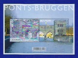 Belgien 2018  Mi.Nr. Block 224 (4823 / 4824) , EUROPA CEPT Brücken- Postfrisch / MNH / (**) - Ungebraucht