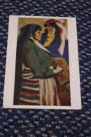 Albania. Girlfriends. Artist Gribov, Malyutin. Socialist Realism. Sotsart. Clean. 1960 Cn - Albania