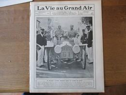LA VIE AU GRAND AIR N°416 DU 8 SEPTEMBRE 1906 COUPE DU MATIN,LE GRAND PRIX PEUGEOT,GARDES DE BOXEURS,LE BOL D'OR,HARVARD - Livres, BD, Revues