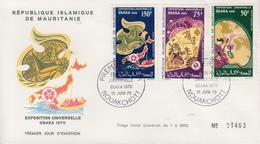 Enveloppe FDC  1er  Jour   MAURITANIE    Exposition  Universelle   OSAKA   1970 - 1970 – Osaka (Japon)