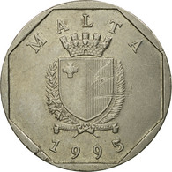 Monnaie, Malte, 50 Cents, 1995, TTB, Copper-nickel, KM:98 - Malte