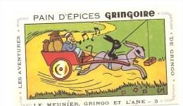 Buvard GRINGOIRE Pain D'Epices GRINGOIRE Le Meunier, Gringo Et L'âne Buvard N°3  Illustré Par COQ - Pain D'épices