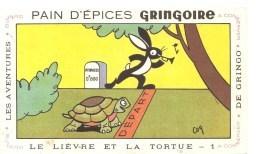 Buvard GRINGOIRE Pain D'Epices GRINGOIRE Le Lièvre Et La Tortue N°1 Illustré Par COQ - Pain D'épices