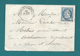 Convoyeur Station - Ligne Paris à Chalon , Station Nogent L'Artaud. Aisne - Postmark Collection (Covers)
