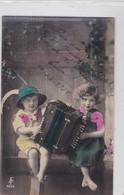 NIÑOS ENFANTS KIDS BANDONEON COLORISEE CIRCULEE CIRCA 1921-. BLEUP - Fotografie
